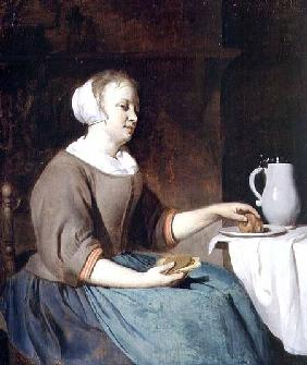 Portrait of a Girl Seated at a Table