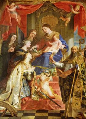 de Crayer, Gaspard : Maria with the child and t...