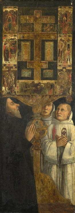 Cardinal Bessarion and Two Members of the Scuola della Carit� in prayer with the Bessarion Reliquary