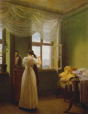 Kersting, Georg Friedrich : In front of the mirror