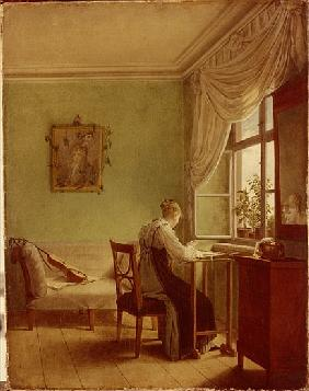 Kersting, Georg Friedrich : Woman Embroidering