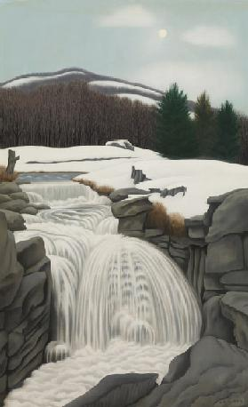 Brook in the Mountains, 1945 (oil on canvas)
