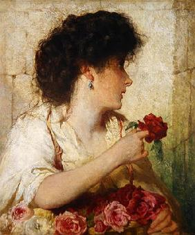 A Summer Rose, 1910 (oil on canvas)