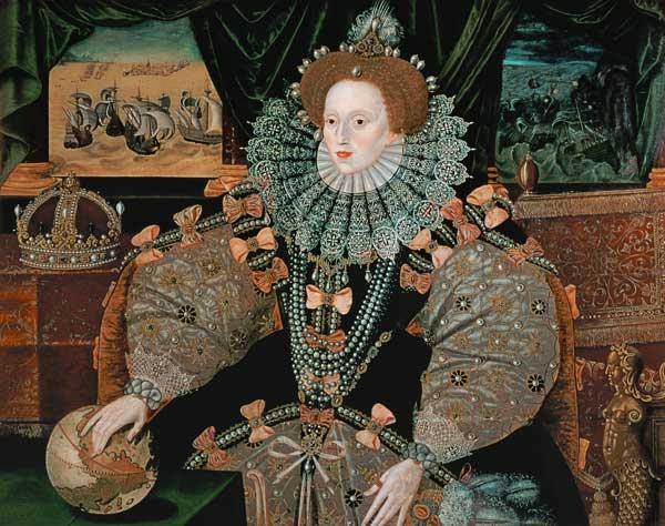 Elizabeth I Armada Portrait George Gower As Art Print