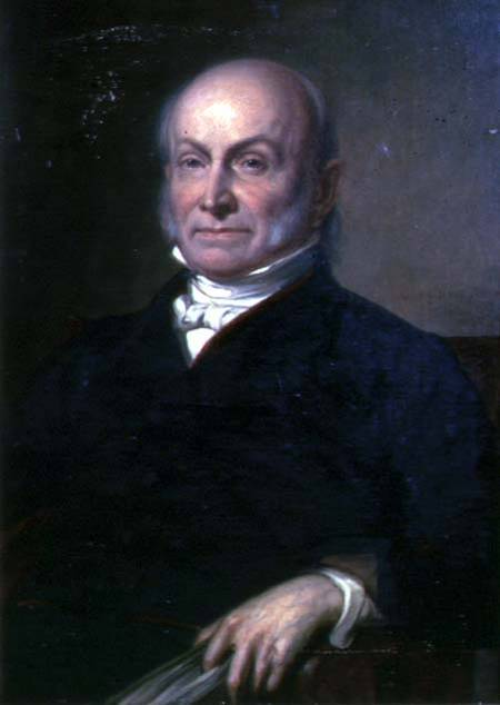 George Peter Alexander Healy - Portrait of John Quincy Adams (1767-1848) sixth President of the United States of America (1825-1829