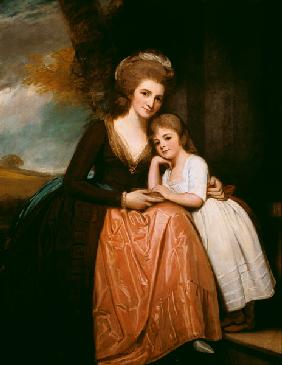 Portrait of Mrs Bracebridge and her daughter Mary