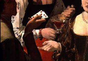 The Cheat with the Ace of Diamonds, detail of the players