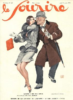 Front cover of ''Le Sourire'', January 1930 (colour litho)