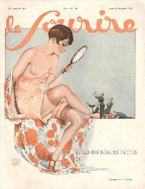 Front cover of ''Le Sourire'', November 1927 (colour litho)