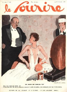 Front cover of ''Le Sourire'', October 1929 (colour litho)