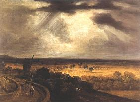 Landscape with windmill (look of Montmartre)