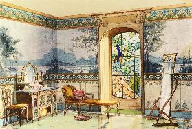Design for a Bathroom, from 'Interieurs Modernes', published Paris, 1900 (colour litho)