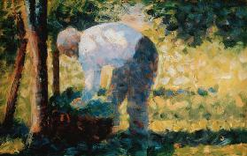 Seurat / Peasant with Basket / 1883