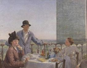 Portrait group with Albert Rutherston (1881-1953) (After Lunch)