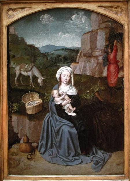The Rest On The Flight Into Egypt Gerard David As Art