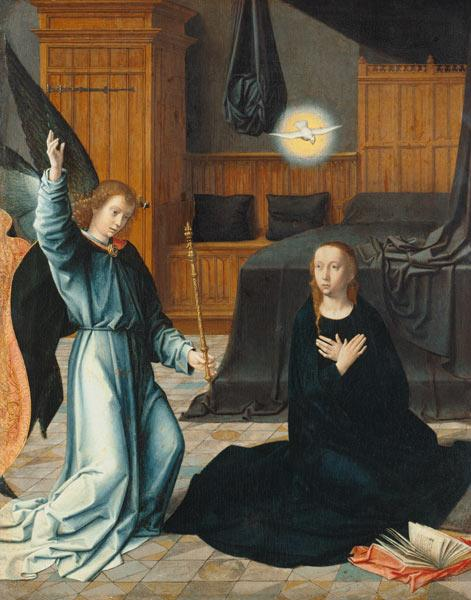 David, Gerard : The Annunciation