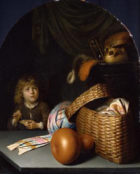 Still Life with a Boy Blowing Soap-bubbles