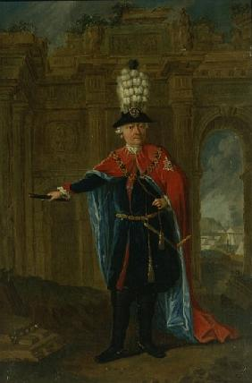 Frederick the Great dressed in the costume of the Order of the Black Eagle