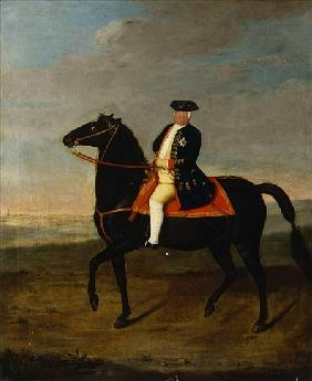 King Frederick William I on Horseback with Potsdam in the background, c.1735