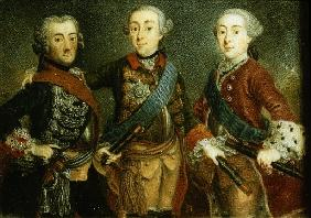 Paul, Frederick II and Gustav Adolph of Sweden