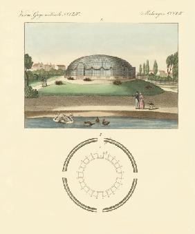The cupola-shaped building in the zoological garden of Surrey