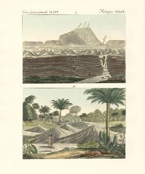 Views of some volcanoes in the kingdom of New Spain in America