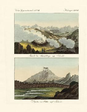 Views of the Sulphur Mountains in Iceland