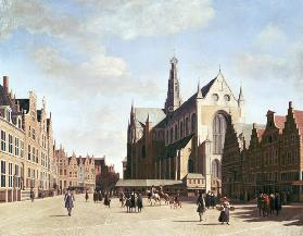 The large market in Haarlem.