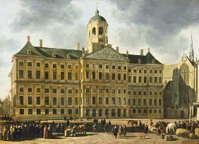 The city hall of Amsterdam.