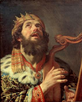 King David Playing the Harp
