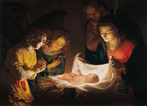 Adoration of the baby, c.1620