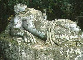 Sleeping Nymph, from the Parco dei Mostri (Monster Park) gardens laid out between 1550-63 by the Duk