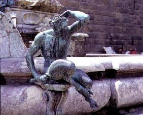 The Fountain of Neptune, detail of a satyr