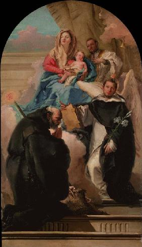 Madonna and Child with Three Saints