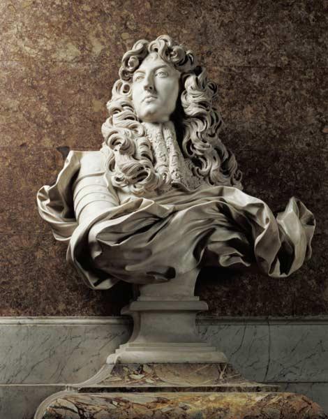 Portrait bust of Louis XIV (1638-1715), - Gianlorenzo ...