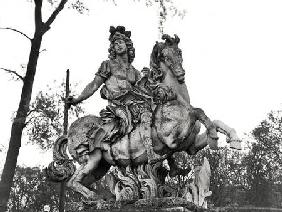 Equestrian statue of Louis XIV (1638-1715)