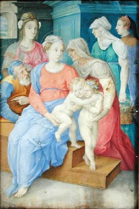 The Holy Family with St. Elizabeth, St. John the Baptist and Three Noblewomen