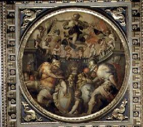 Allegory of the districts of Santa Croce and Santo Spirito from the ceiling of the Salone dei Cinque