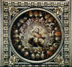 Apotheosis of Cosimo I de' Medici (1519-74) from the ceiling of the Salone dei Cinquecento