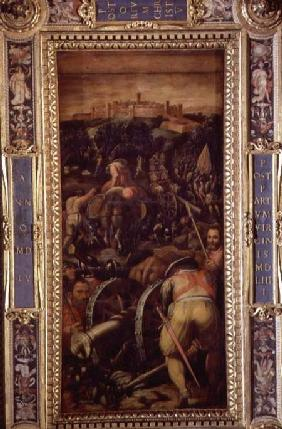 The Capture of Monteriggioni from the ceiling of the Salone dei Cinquecento