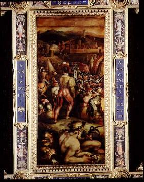 The Capture of Vicopisano from the ceiling of the Salone dei Cinquecento
