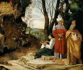 Giorgione (aka Giorgio Barbarelli or da Castelfranco) : The three philosophers