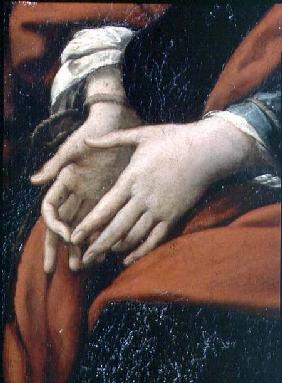 The Martyrdom of SS. Rufina and Seconda, known as the 'three-handed picture', detail of bound hands,