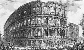 View of the Flavian Amphitheatre, known as the Colosseum from ''Vedute'', first published by  in 175