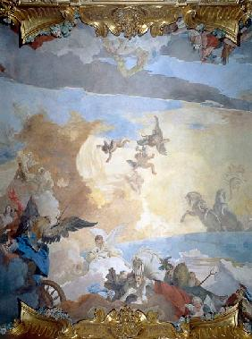 Detail from the Course of the Sun, 1740 (fresco)