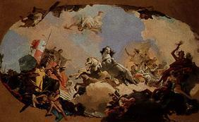 Tiepolo, Giovanni Battista : Emperor brings bar bar oss...