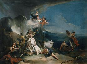 Tiepolo, Giovanni Battista 1696-1770. ''The Abduction of Europa'', early work, (Jupiter in disguise