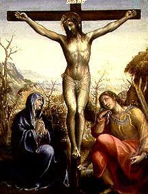 Sodoma, Giovanni Bazzi : Crucified Jesus with Maria...