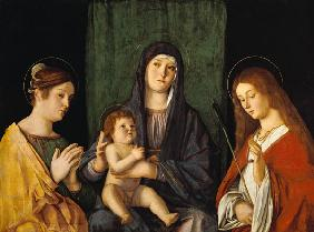 The virgin and the child with the St. Kathatina and St. Ursula