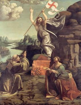 The Resurrection of Christ with Saints Leonard of Noblac and Lucia